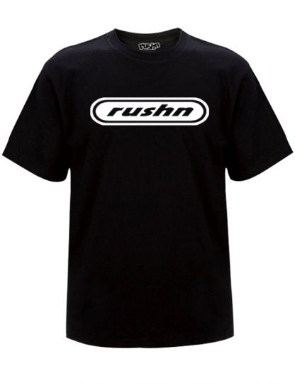Rushn Logo design Black t-shirt