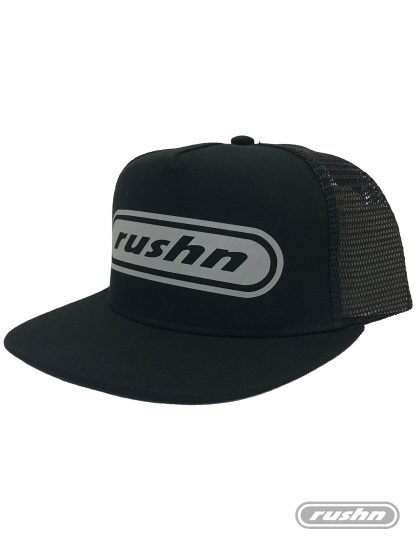 Rushn reflective trucker with a flat peak