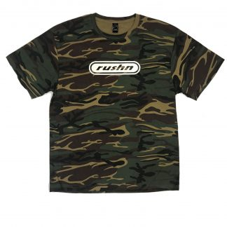 Rushn T-Shirt Cotton Camo Reflective Logo